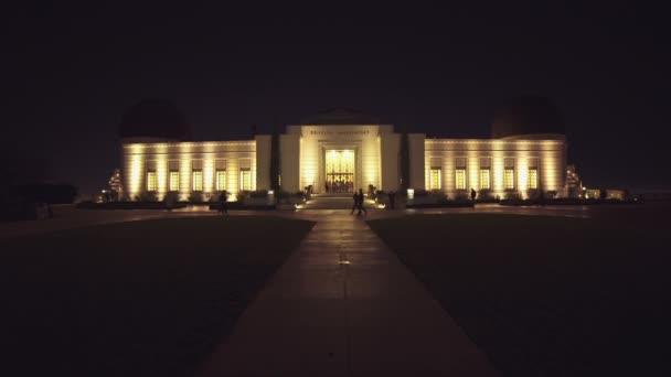 Griffith Obszervatórium kigyulladt az éjszaka, Hollywood, Los Angeles-i Kalifornia