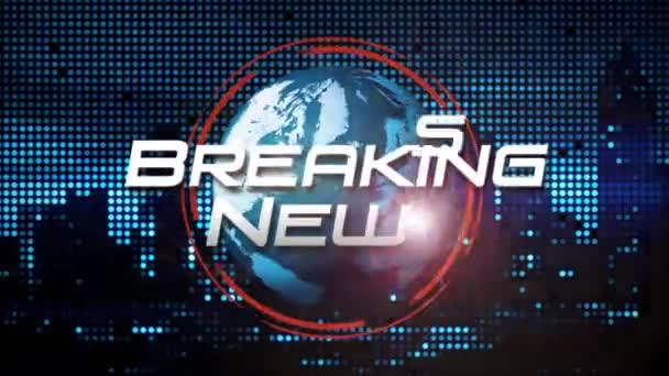 Breaking News Animated Title Graphic for TV Broadcast News