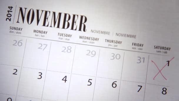 Crossing off Days on a Calendar / Diary