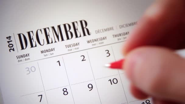Crossing off Days on a Calendar / Diary