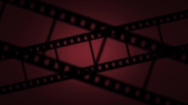 Pohybující filmový pás efekt animace, červená
