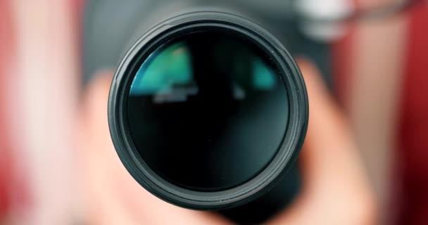 Defocussed objektivu přiblíží Focus - fotograf / kameraman pracovní