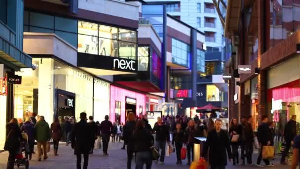 Large Crowd of People in Shopping Mall, Cabot Circus, Bristol UK