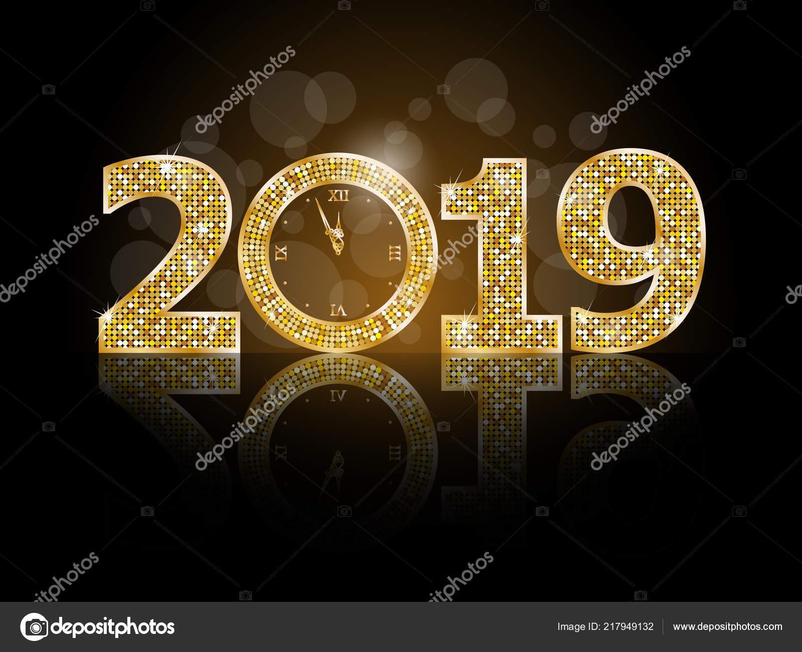 Happy New Year 2019 Stock Vector Image by ©Ferdiperdozniy #217949132