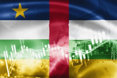 Central African Republic flag, stock market, exchange economy an
