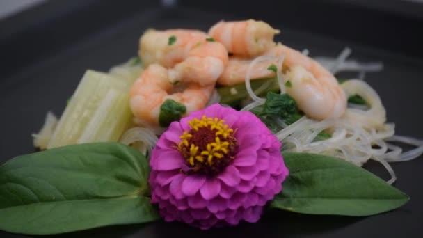 Krevetový salát jídla mořské plody