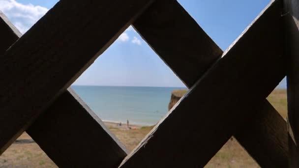 sea gazebo grille wood view sky