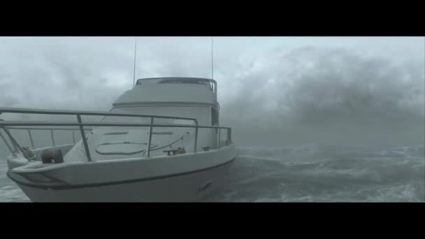 yacht sea ocean waves storm