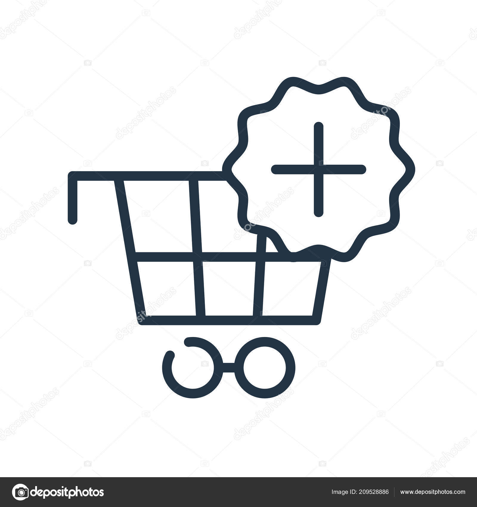 shopping cart icon vector isolated white background shopping cart