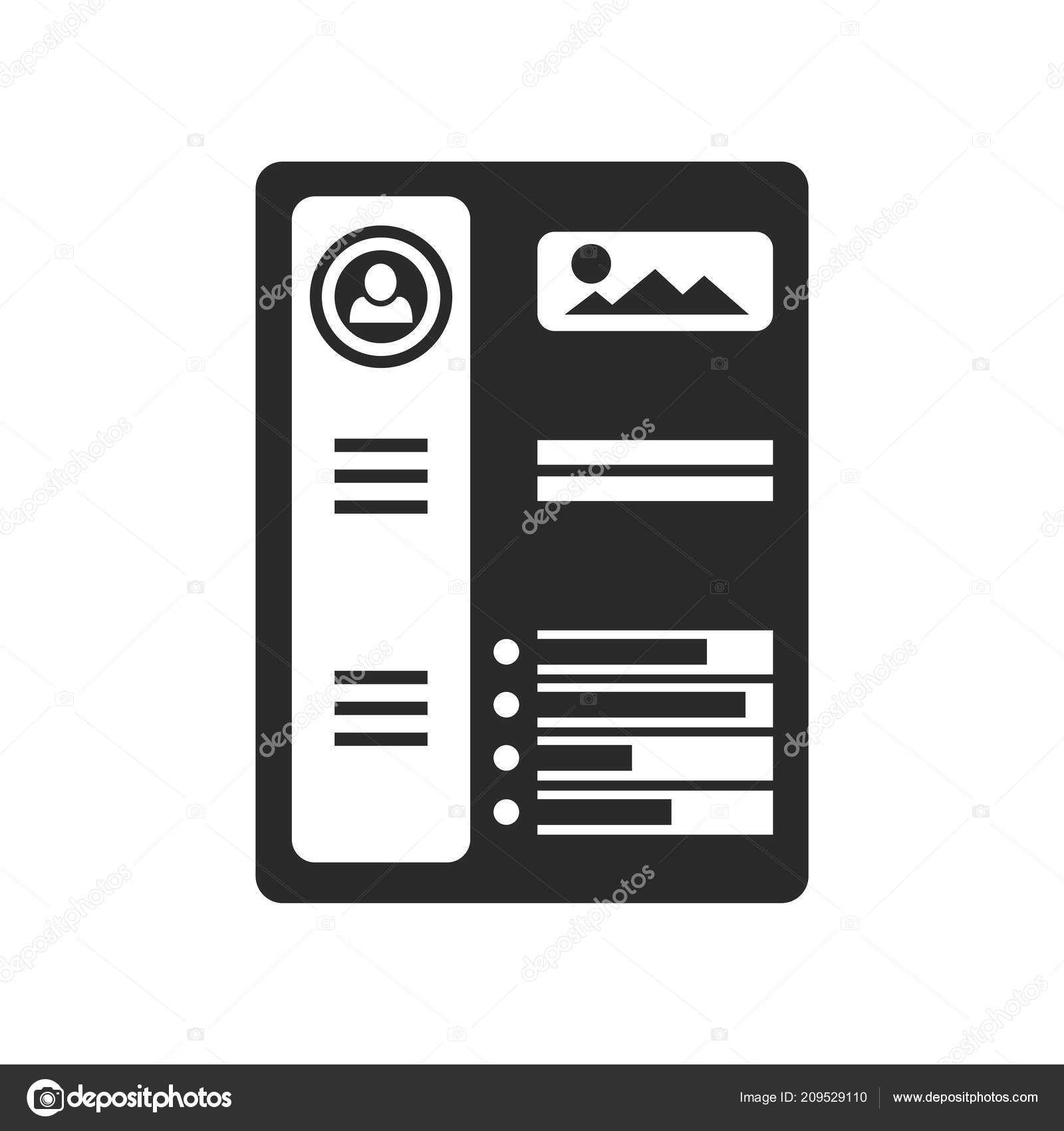 Resume Icon Vector Isolated White Background Your Web Mobile App