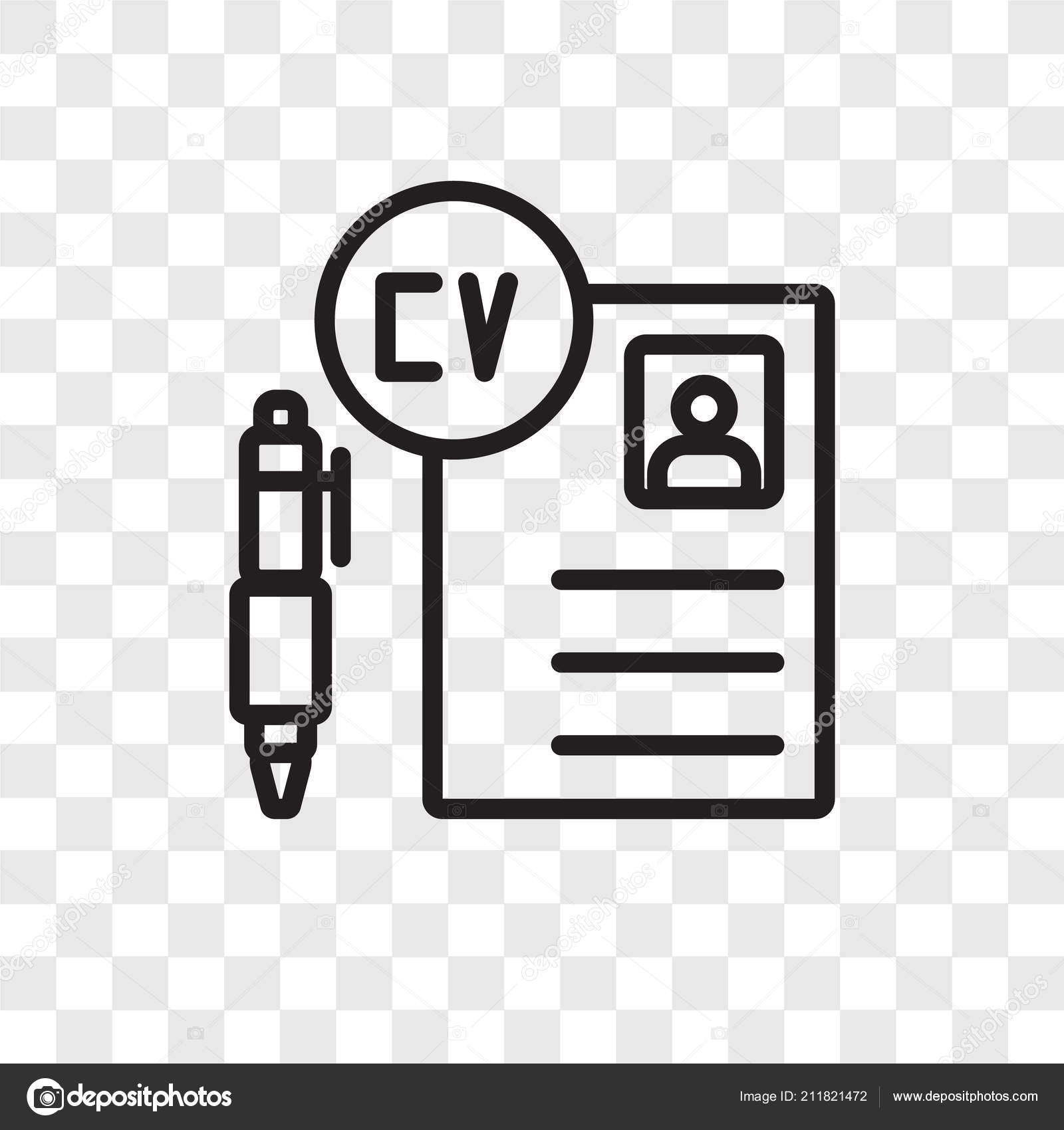 Curriculum Vitae Vector Icon Isolated On Transparent
