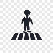 Fotografie Křížení silnice vektorové ikony izolované na průhledné pozadí, Cr