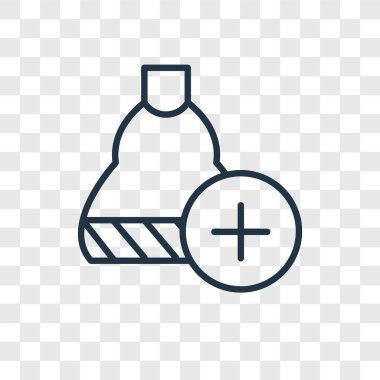Shopping bag vector icon isolated on transparent background, Shopping bag logo design