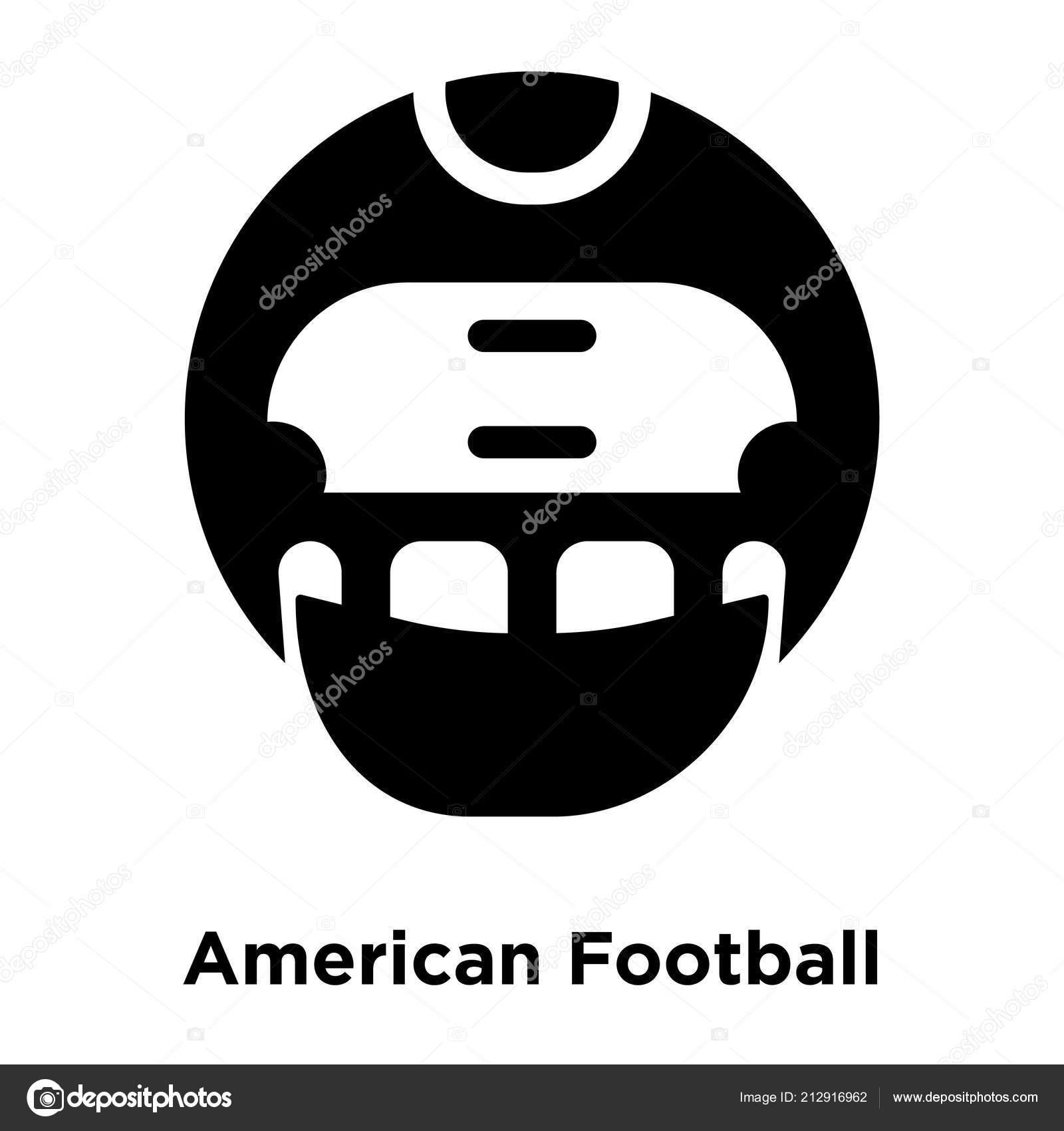 American Football Helmet Icon Vector Isolated White Background Logo