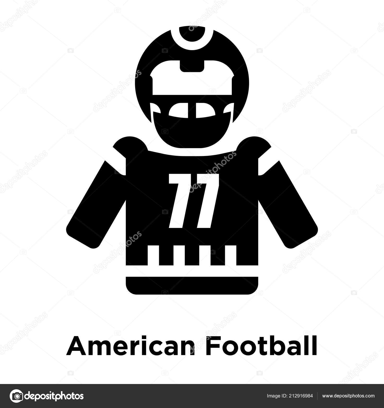American Football Icon Vector Isolated White Background Logo Concept