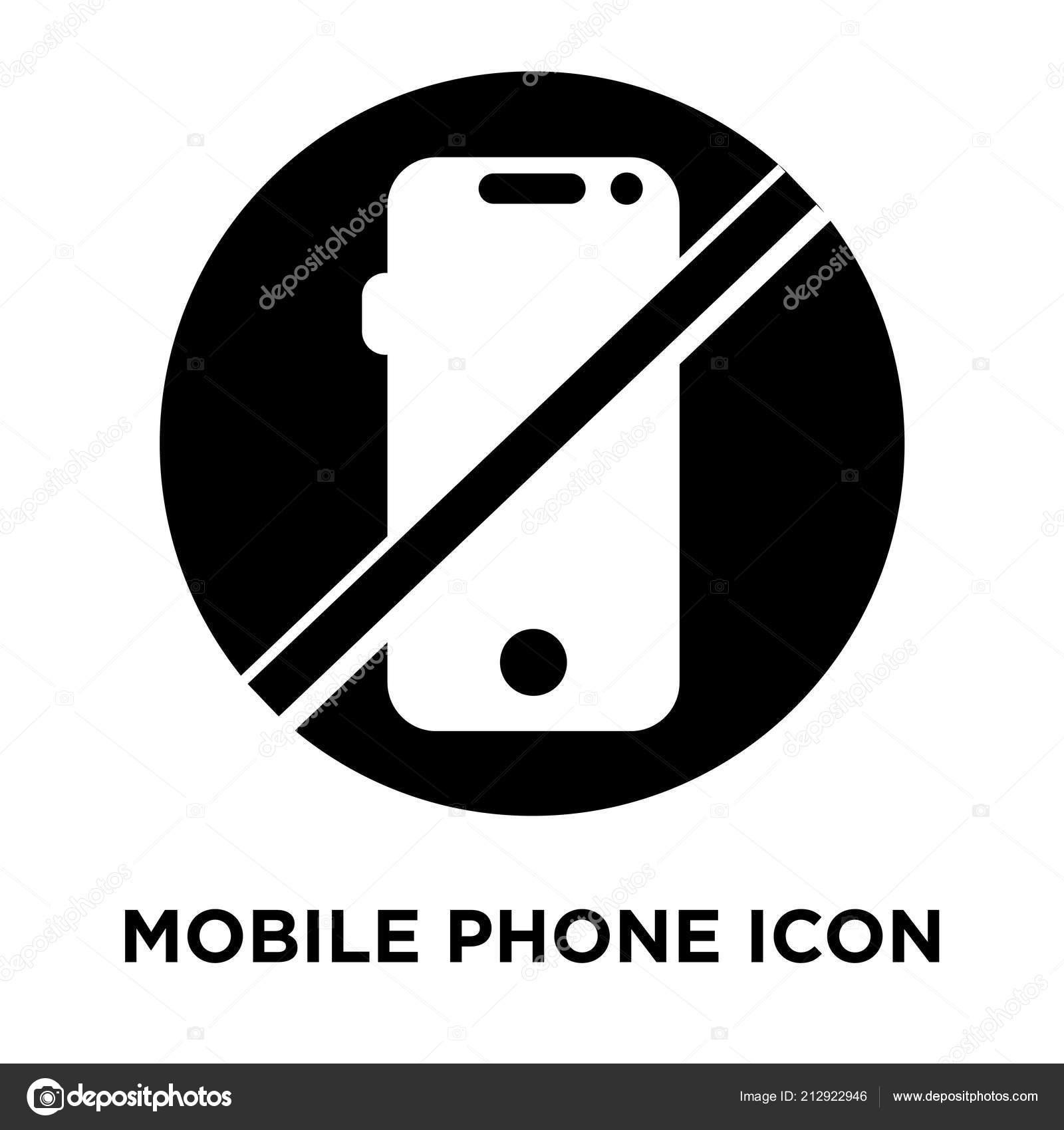 Telefono Cellulare Icona Vettoriale Isolato Sfondo Bianco Logo