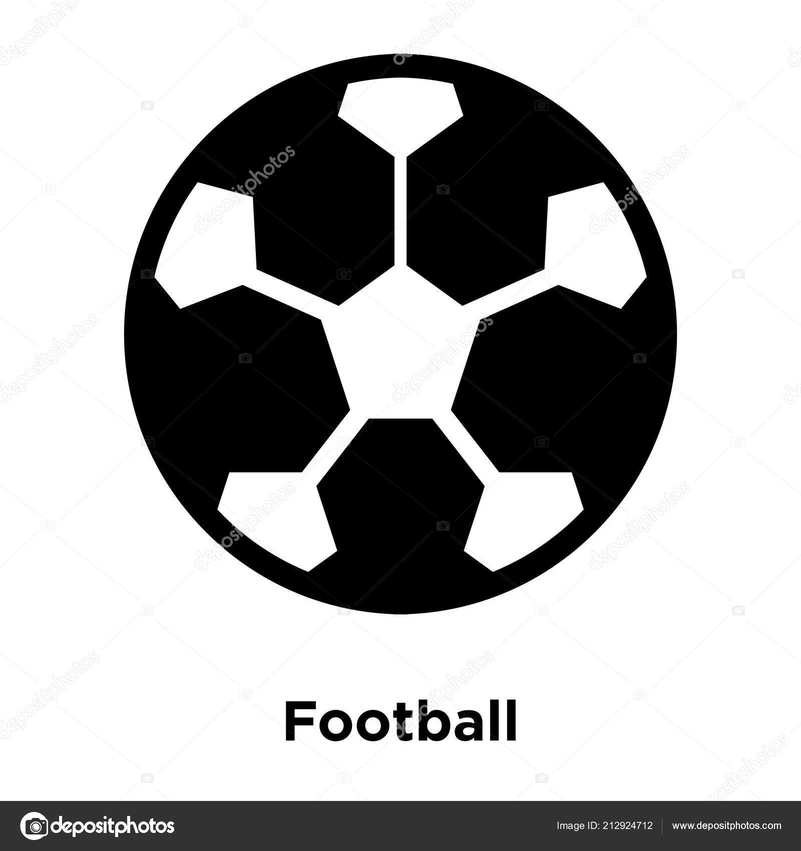 Fussball Ikone Vektor Isoliert Auf Weissem Hintergrund