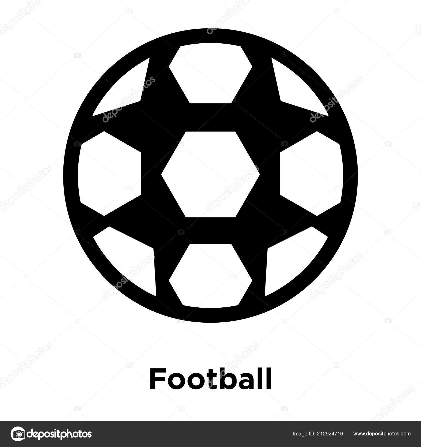 Football Icon Vector Isolated White Background Logo Concept Football