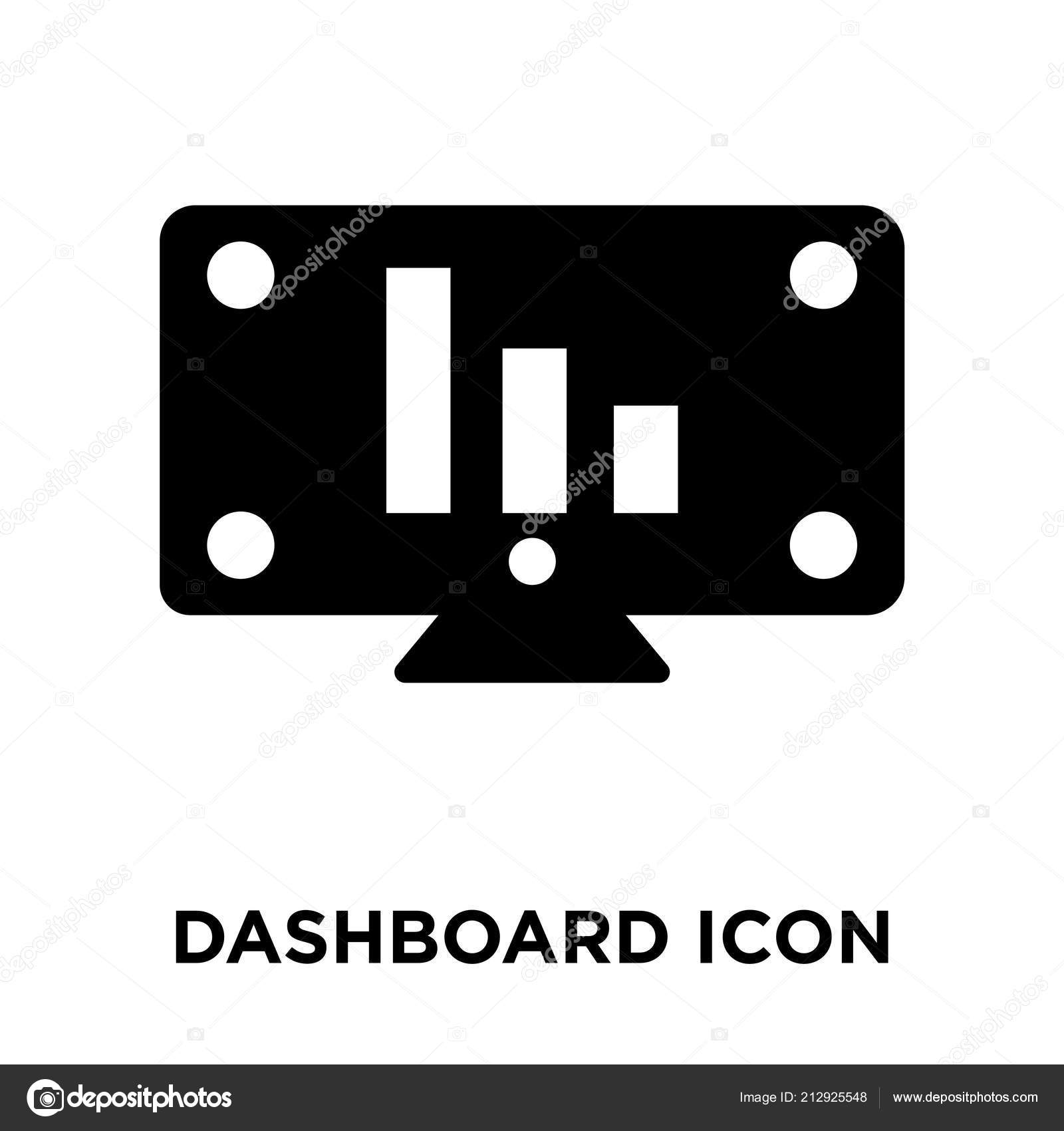 Vector Dashboard White Dashboard Icon Vector Isolated