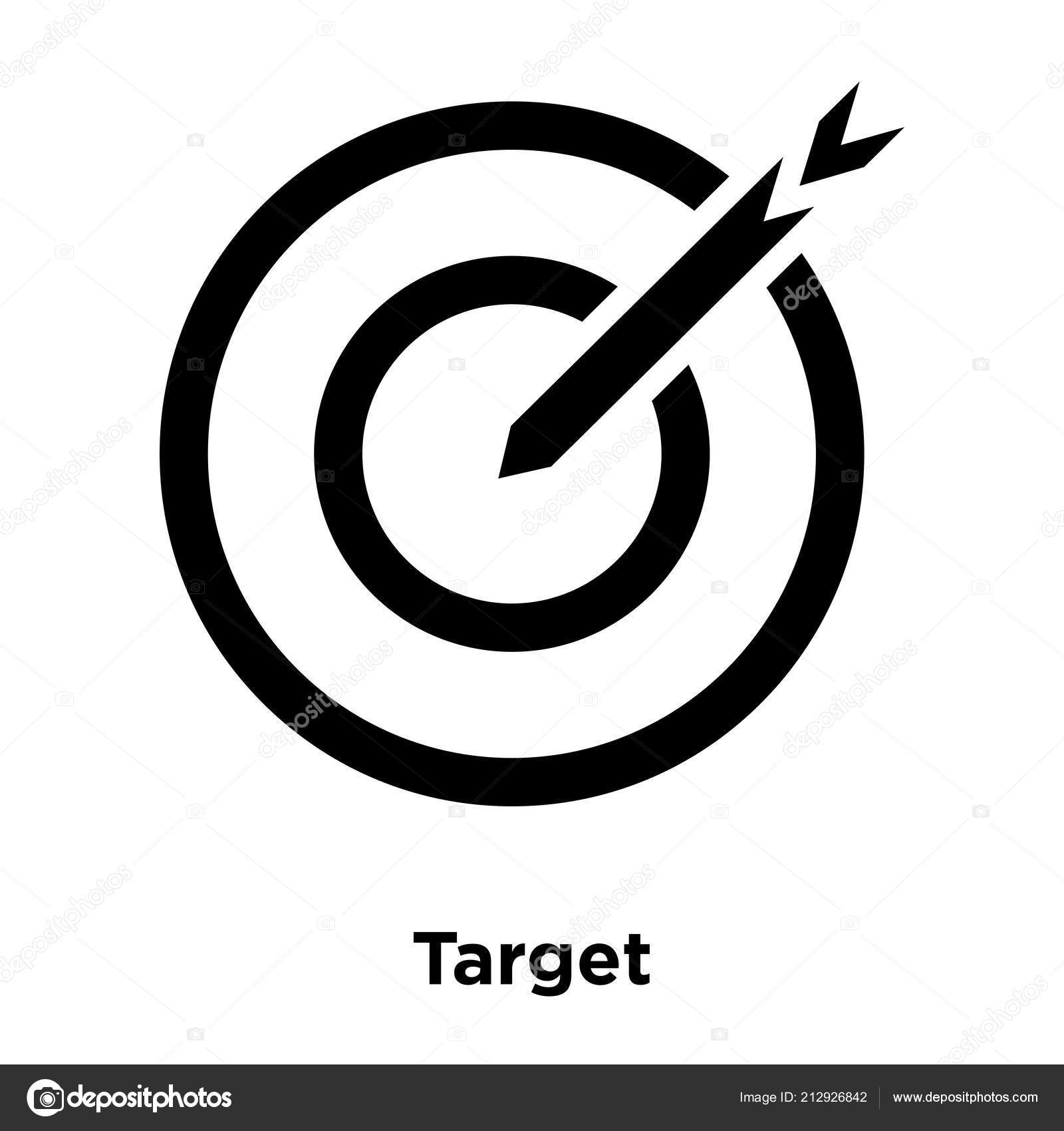 Target Icon Vector Isolated White Background Logo Concept