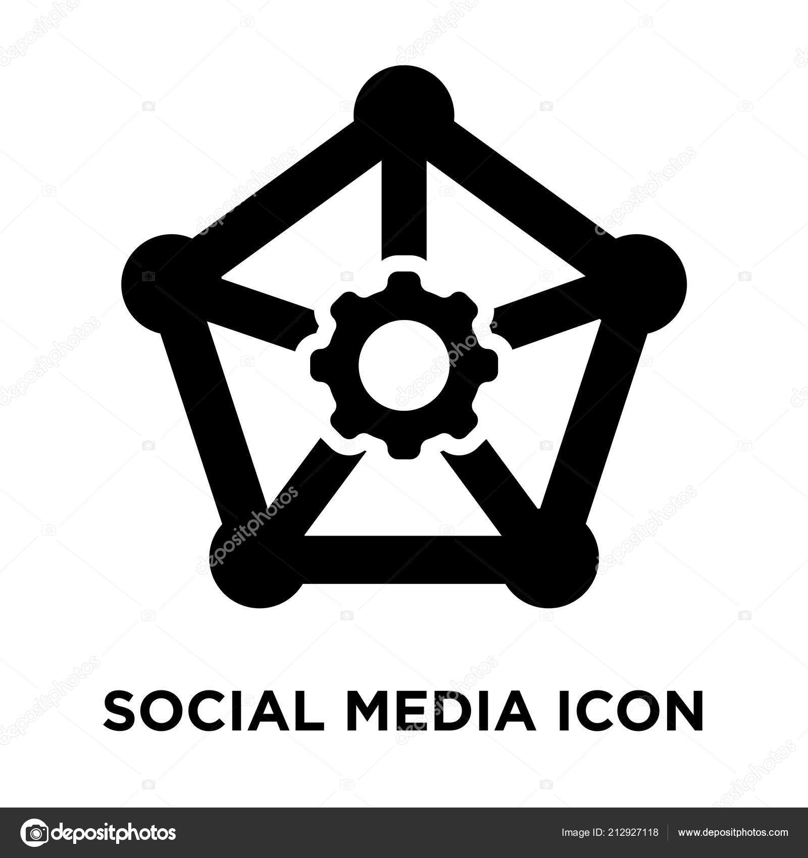 Social Media Icon Vector Isolated White Background Logo Concept