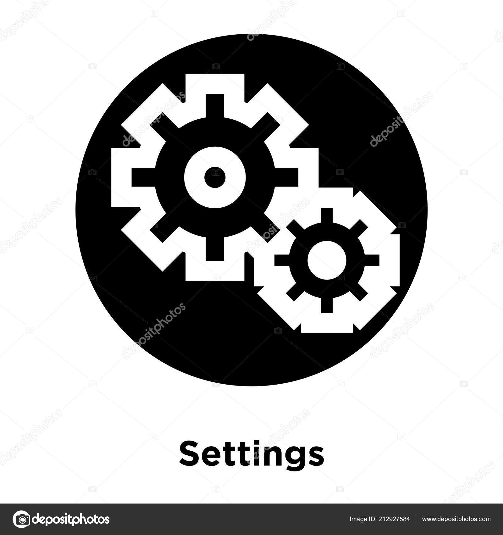 Settings Icon Vector Isolated White Background Logo Concept Settings