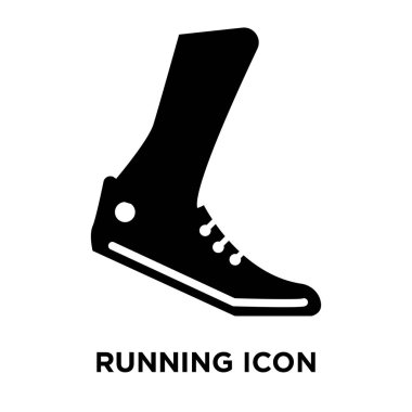Running icon vector isolated on white background, logo concept of Running sign on transparent background, filled black symbol