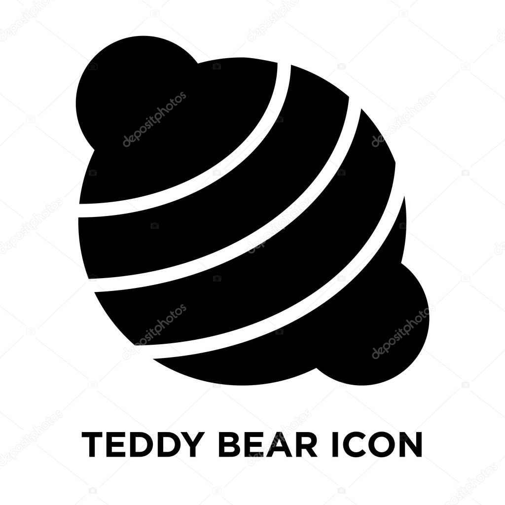 teddy bear icon vector isolated on white background logo concept of teddy bear sign on transparent background filled black symbol premium vector in adobe illustrator ai ai format encapsulated wdrfree