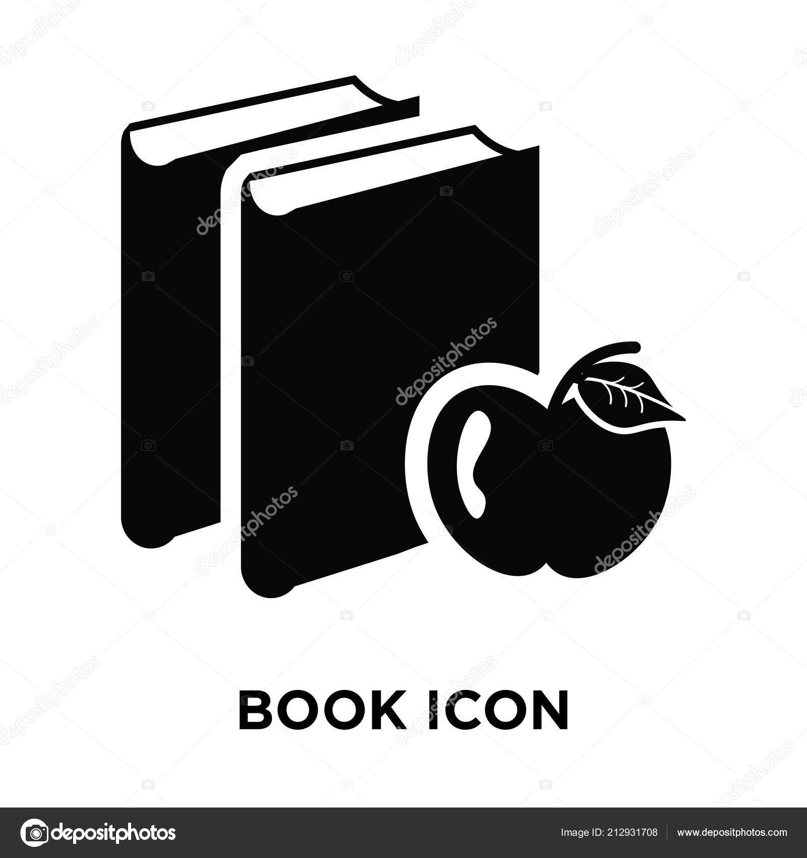 Book Icon Vector Isolated On White Background Logo Concept Of Sign Transparent Filled Black Symbol By Eljanstock