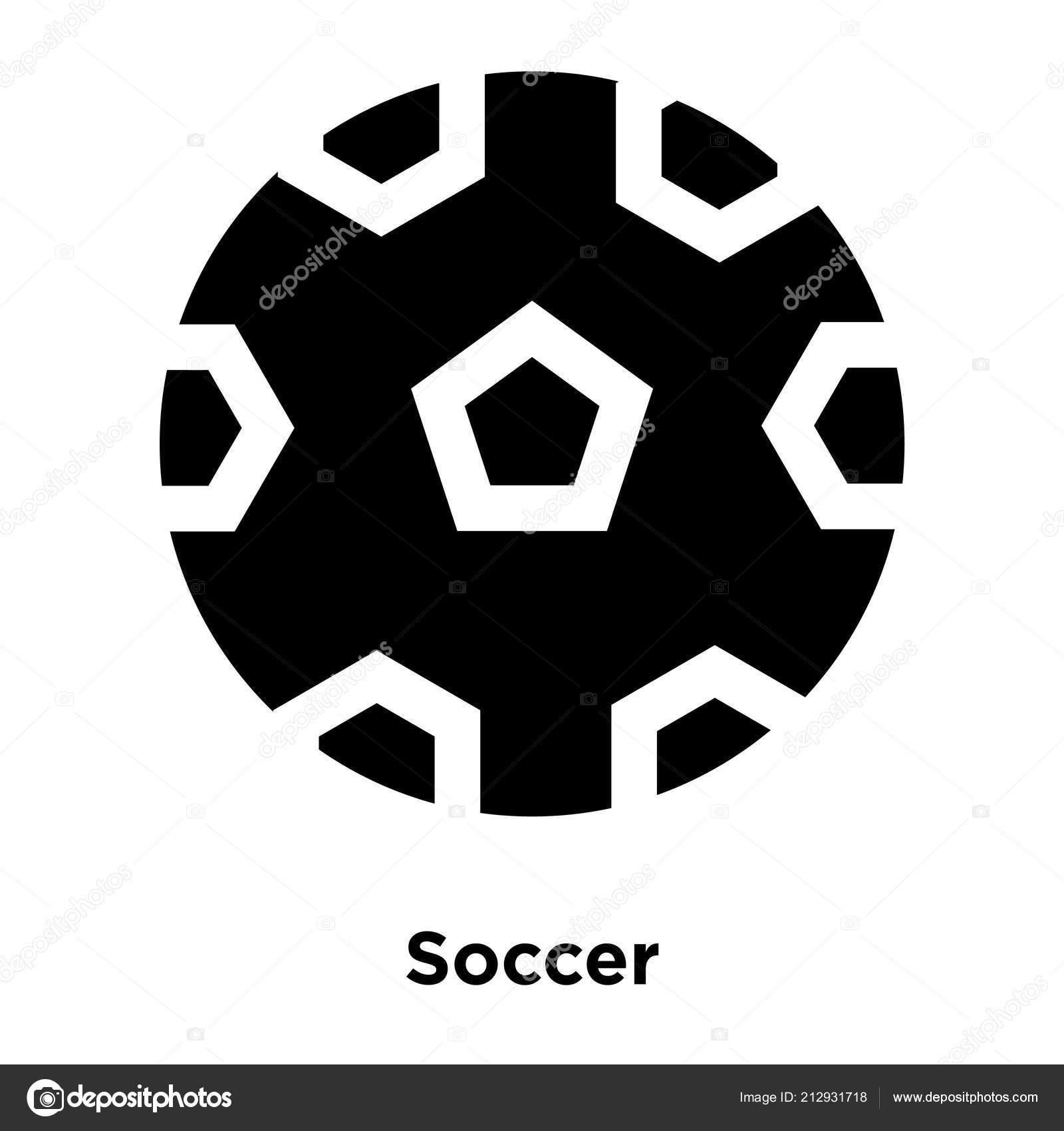Fussball Symbol Vektor Isoliert Auf Weissem Hintergrund