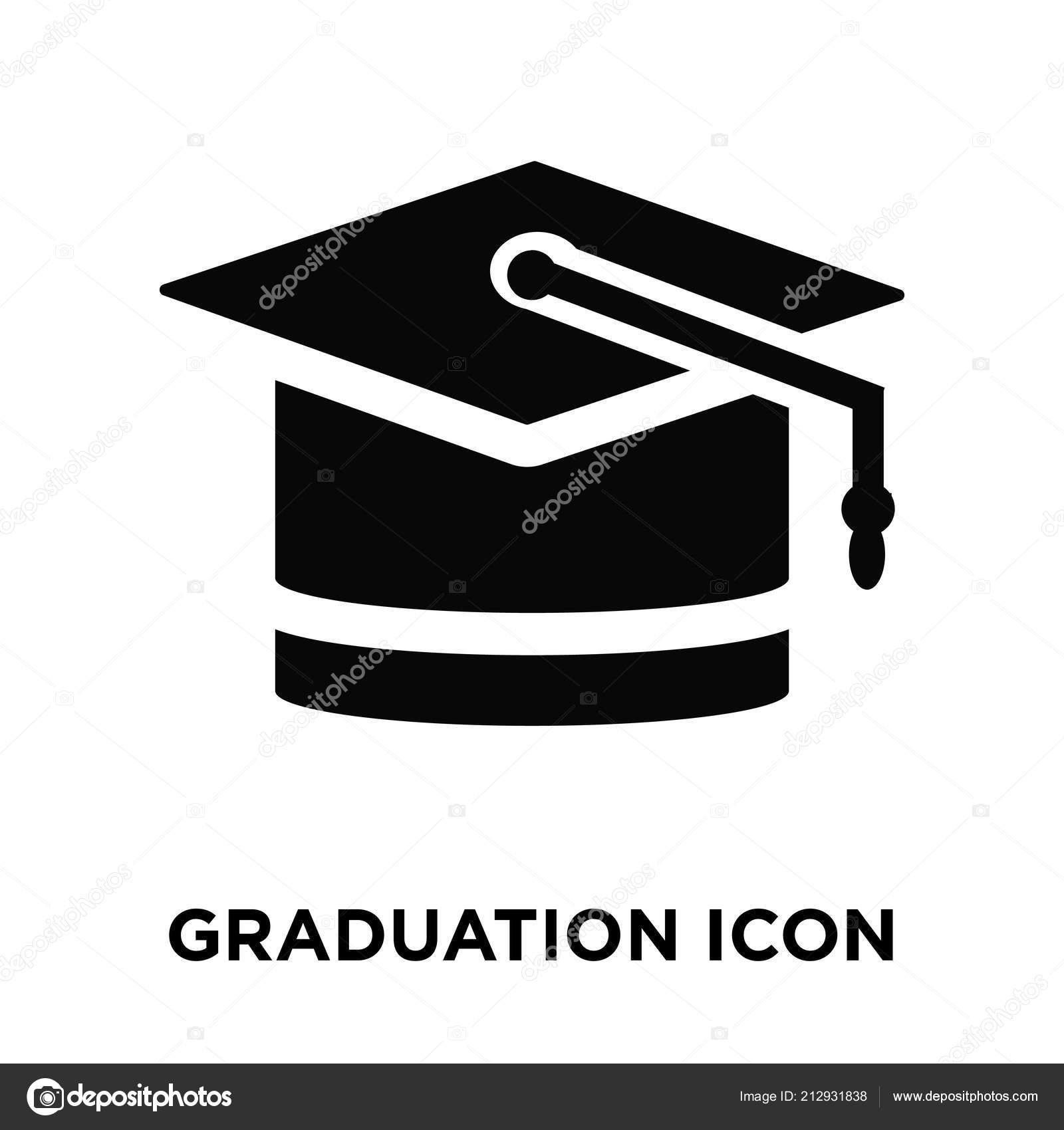 graduation icon vector isolated white background logo concept