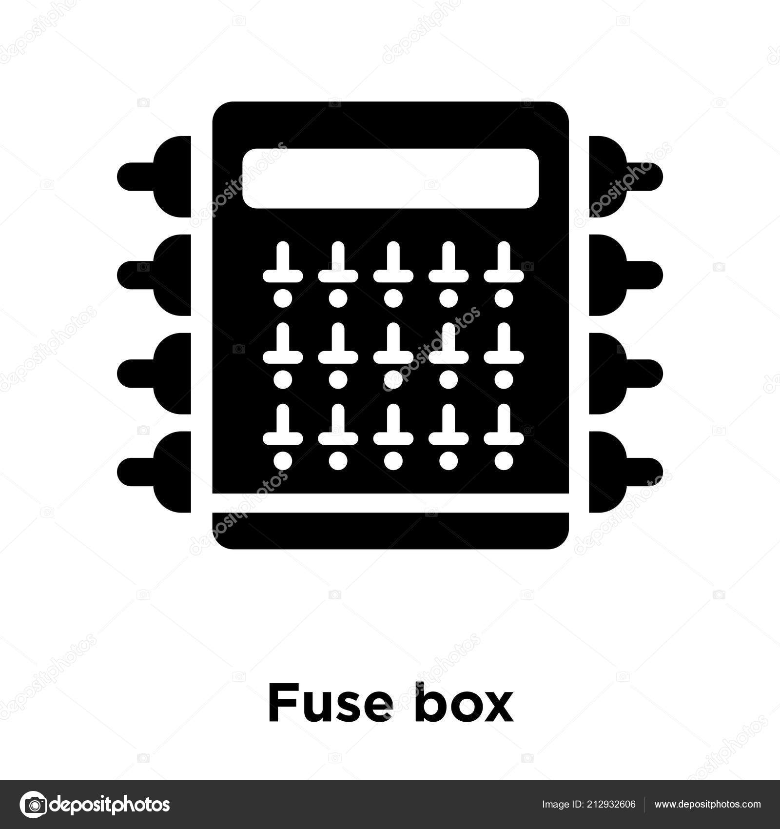fuse box icon vector isolated white background logo concept fuse rh  depositphotos com fuse box cig