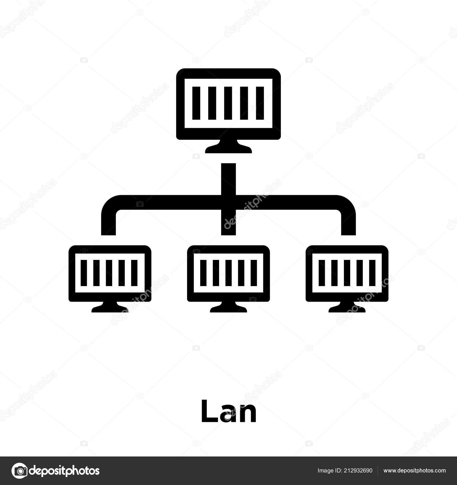 Lan Icon Vector Isolated White Background Logo Concept Lan ... |Sign Lan