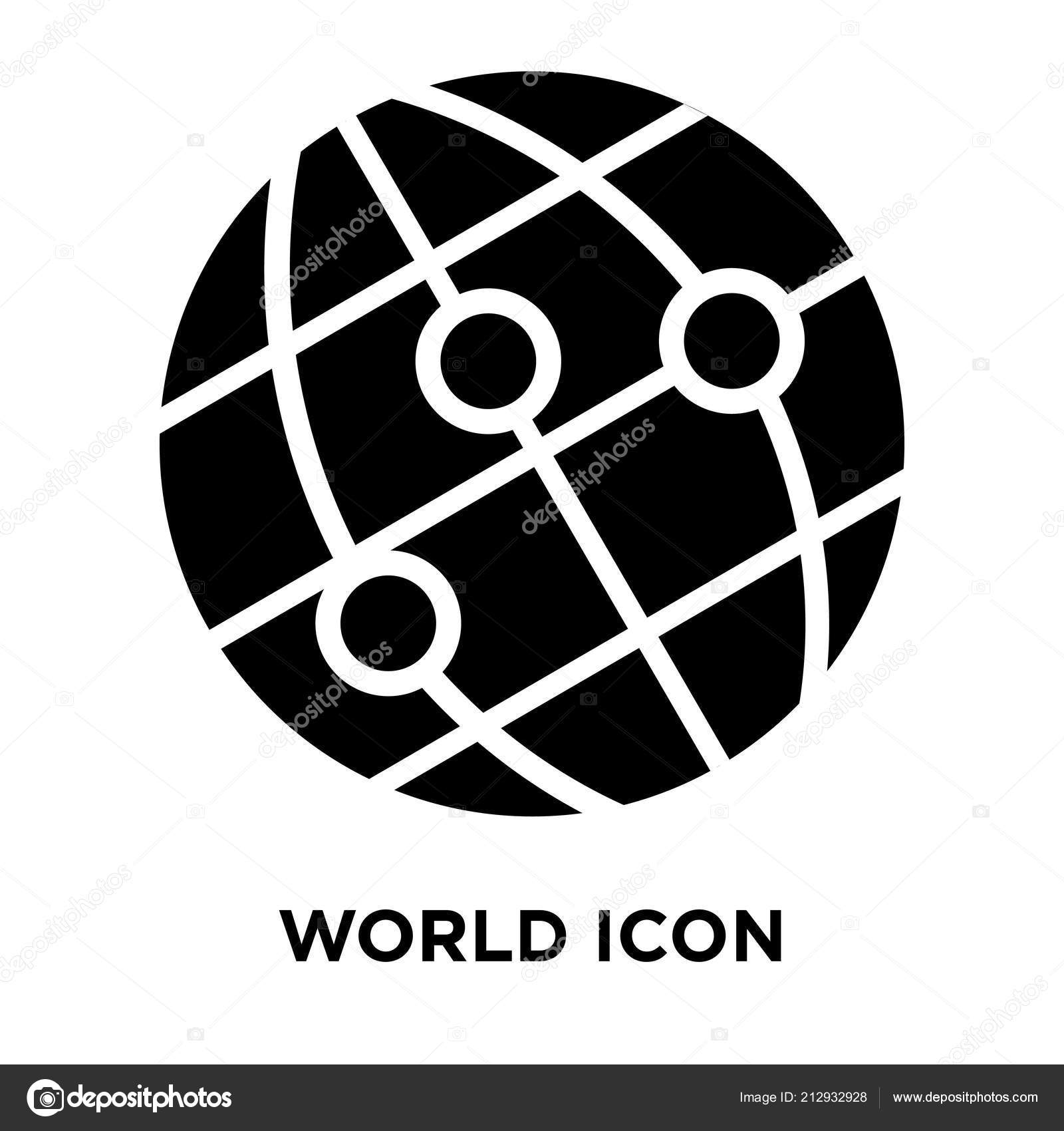 World Icon Vector Isolated White Background Logo Concept World Sign