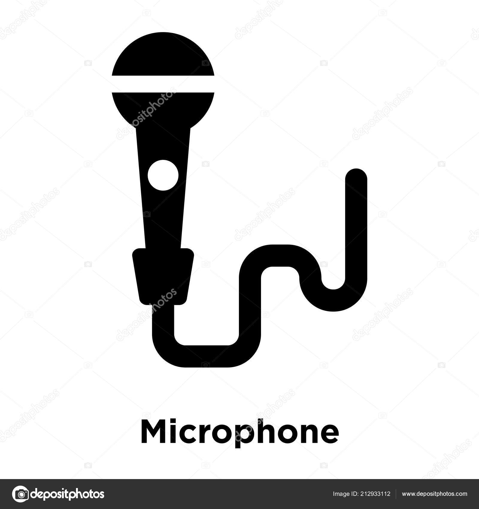 Microphone Icon Vector Isolated White Background Logo Concept