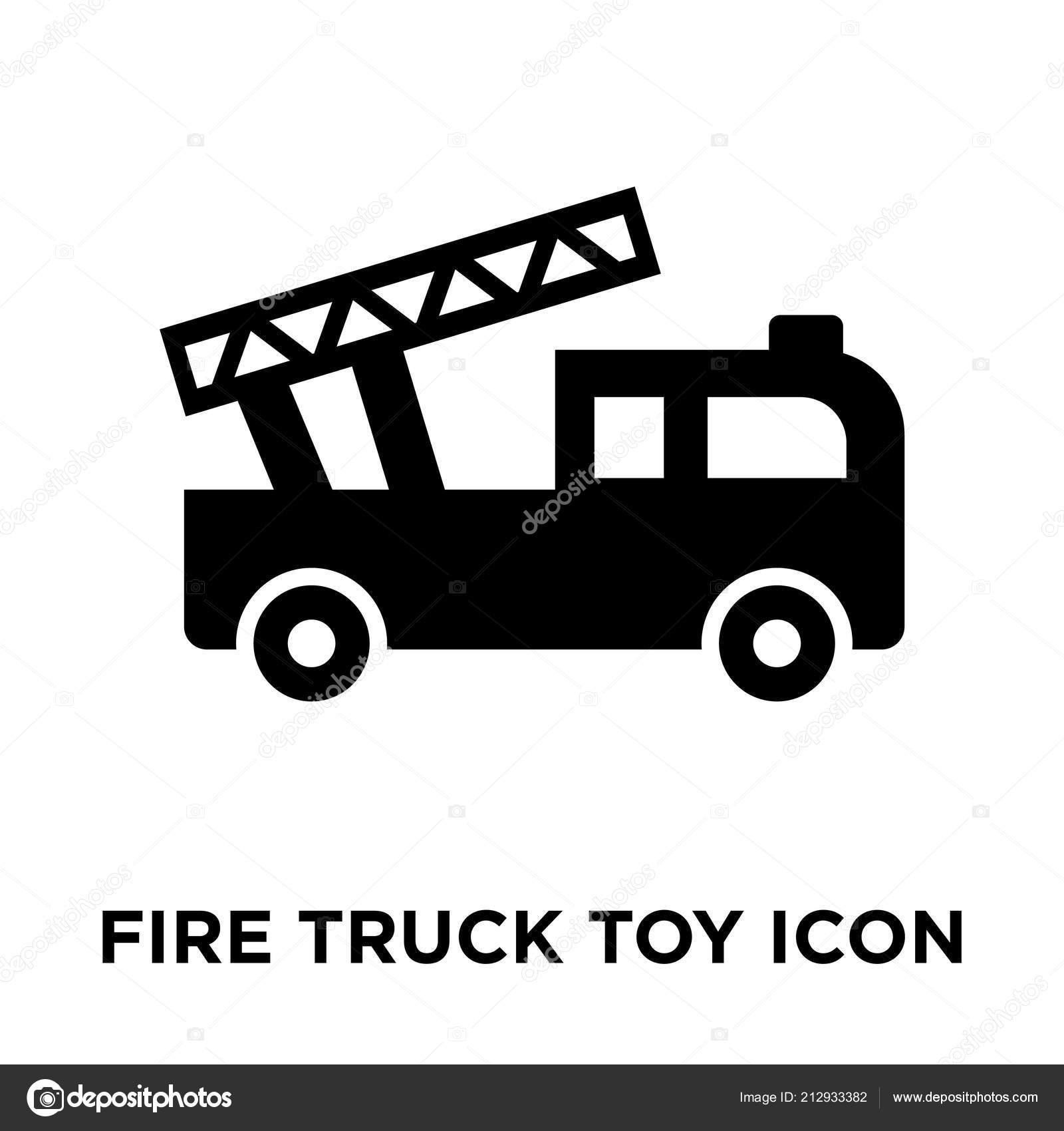 Aislado Fondo Incendio Camión Icono Blanco Vector Juguete Sobre WIYH2ED9
