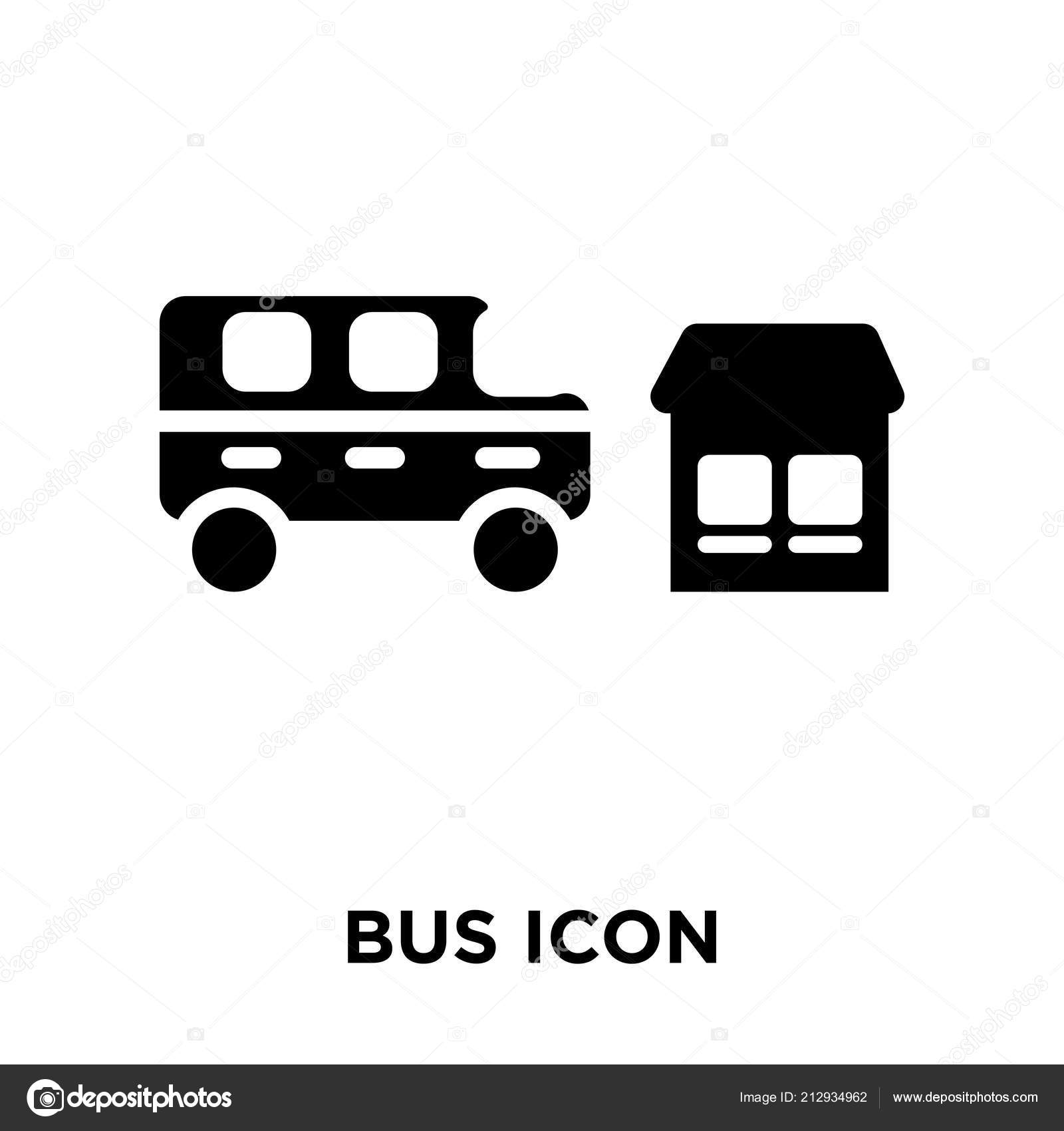 bus icon vector isolated white background logo concept bus sign