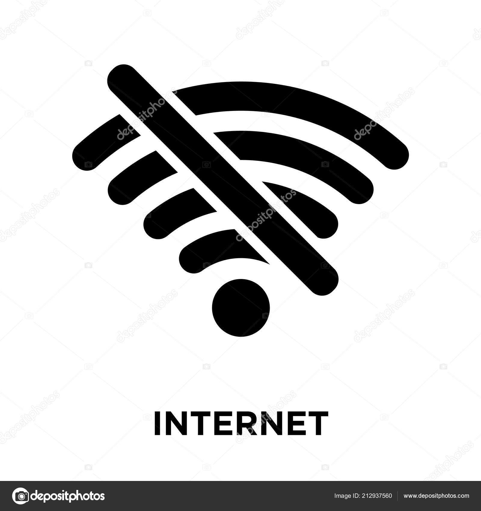 Internet Verbindungen Aus Symbol Vektor Isoliert Auf Weißem