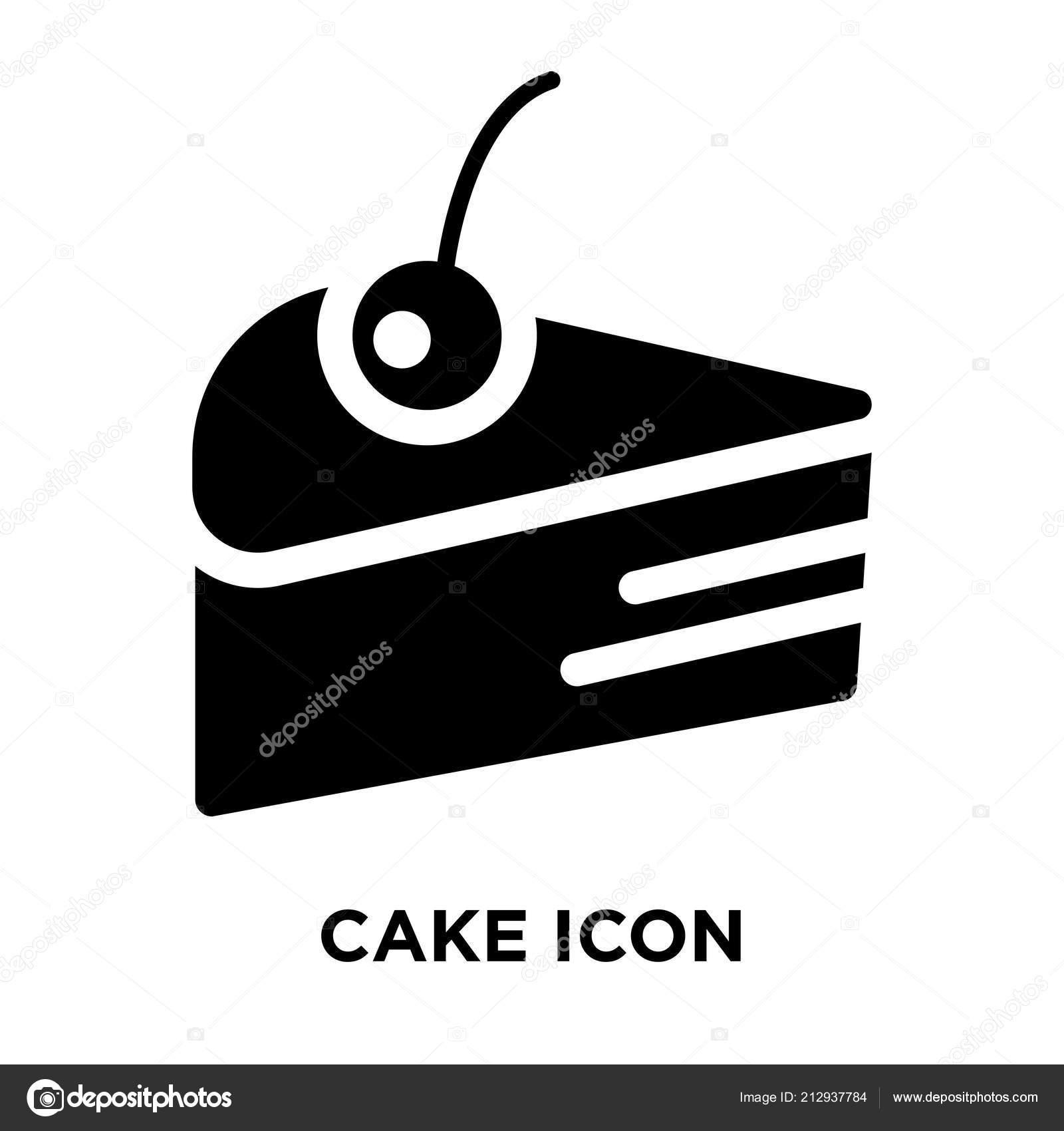 Kuchen Icon Vektor Isoliert Auf Weissem Hintergrund Logokonzept