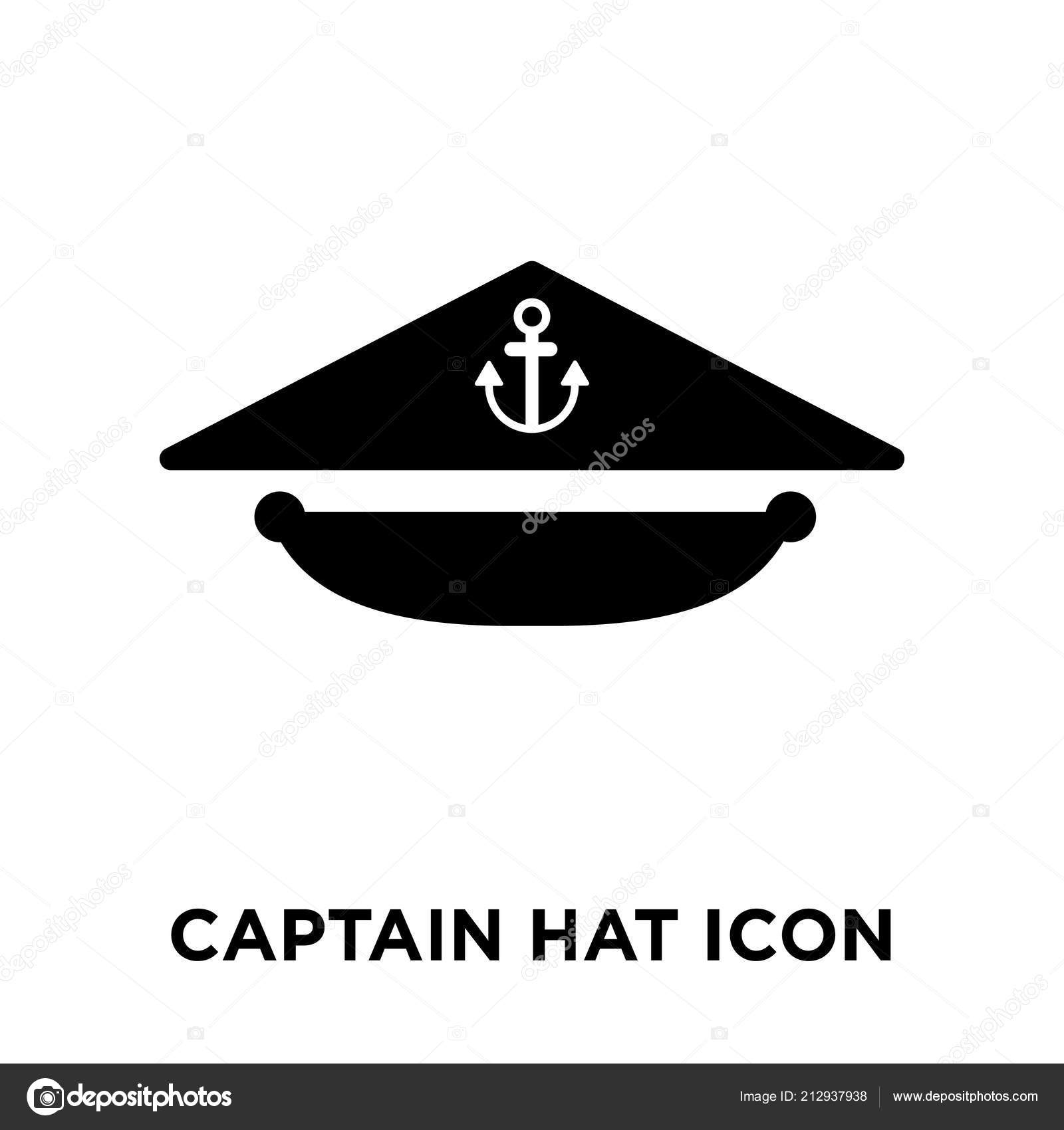 3ea29925925 Captain Hat Icon Vector Isolated White Background Logo Concept ...