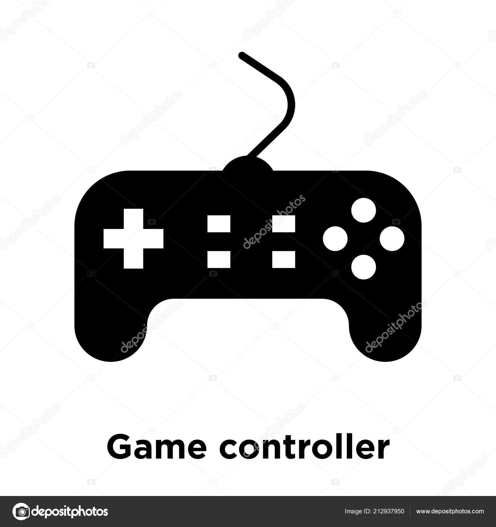 Game Controller Icon Vector Isolated White Background Logo Concept