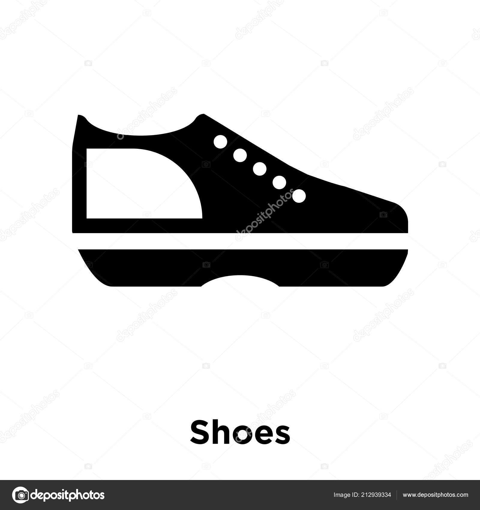 7fb689a5 Vector Icono Zapatos Aislado Sobre Fondo Blanco Concepto Logotipo Zapatos —  Archivo Imágenes Vectoriales