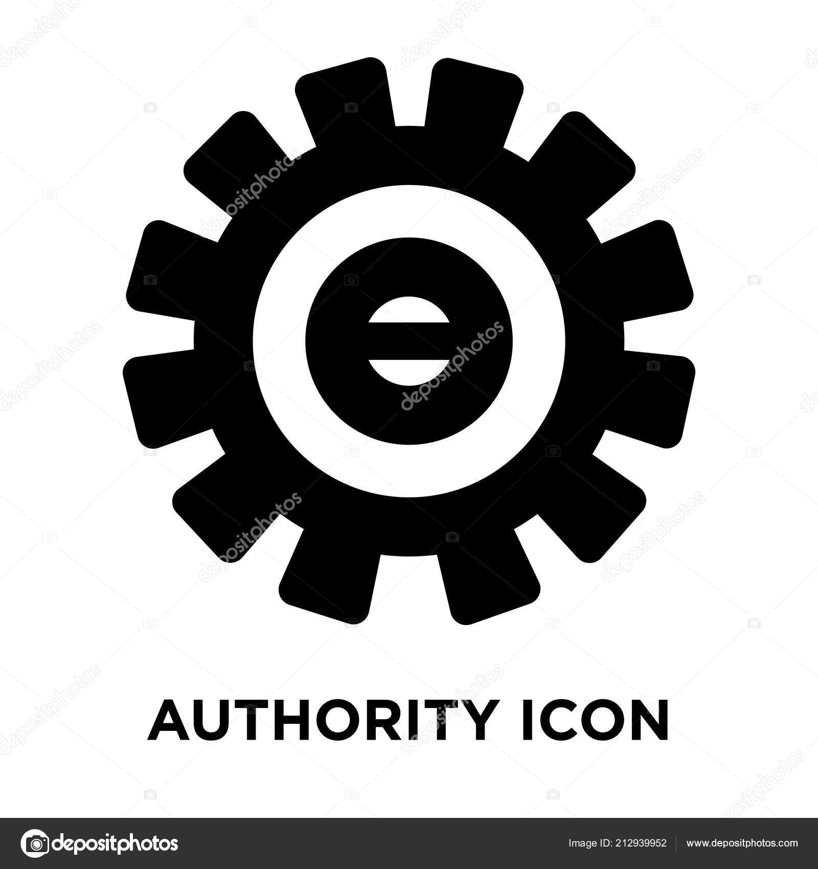 Authority Icon Vector Isolated White Background Logo Concept