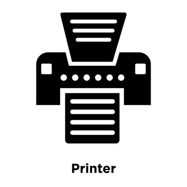 Printer icon vector isolated on white background, logo concept of Printer sign on transparent background, filled black symbol