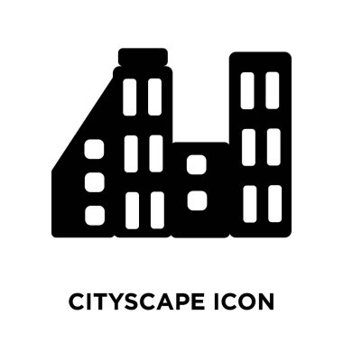 Cityscape icon vector isolated on white background, logo concept of Cityscape sign on transparent background, filled black symbol