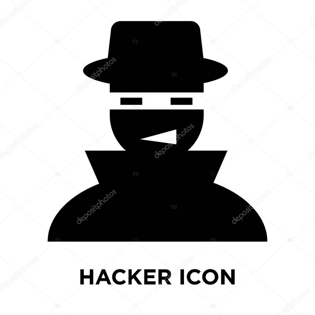 Hacker Icon Vector Isolated On White Background Logo Concept Of Hacker Sign On Transparent Background Filled Black Symbol Premium Vector In Adobe Illustrator Ai Ai Format Encapsulated Postscript Eps Eps Format