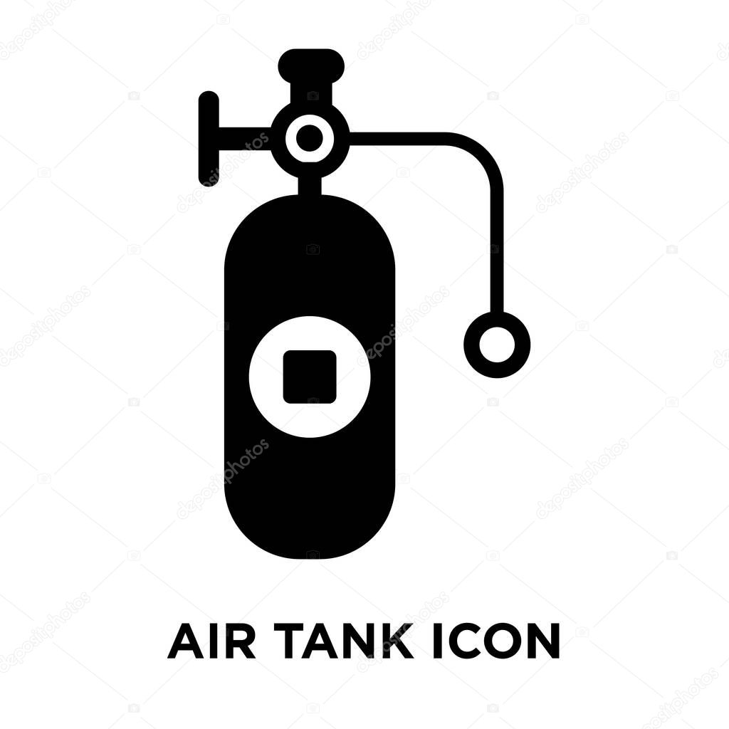 air tank icon vector isolated on white background logo concept of air tank sign on transparent background filled black symbol premium vector in adobe illustrator ai ai format encapsulated wdrfree