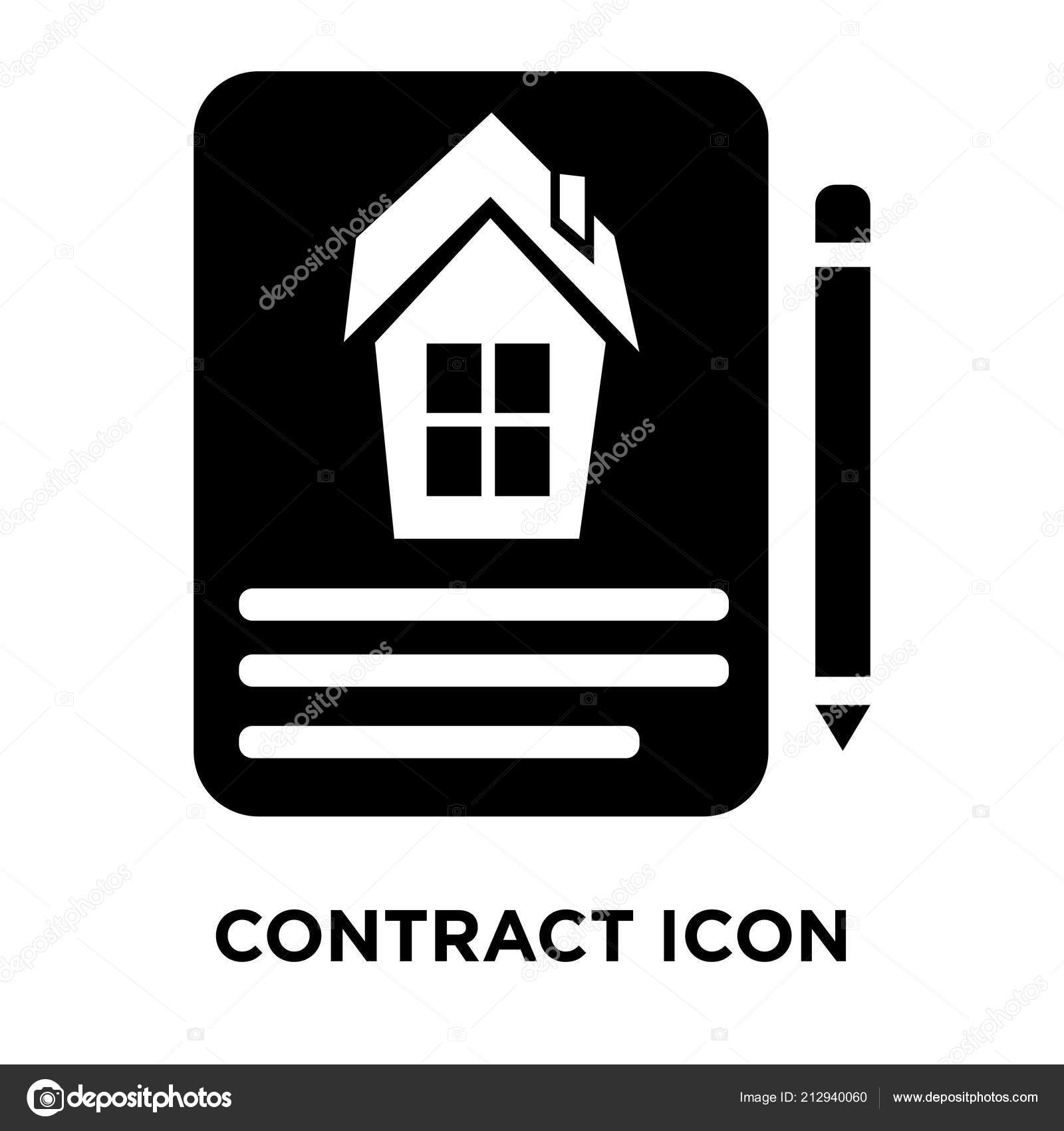 contract icon vector isolated white background logo concept contract