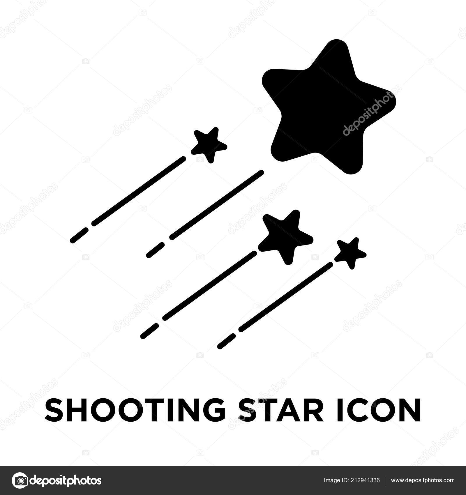 Shooting Star Icon Vector Isolated White Background Logo Concept