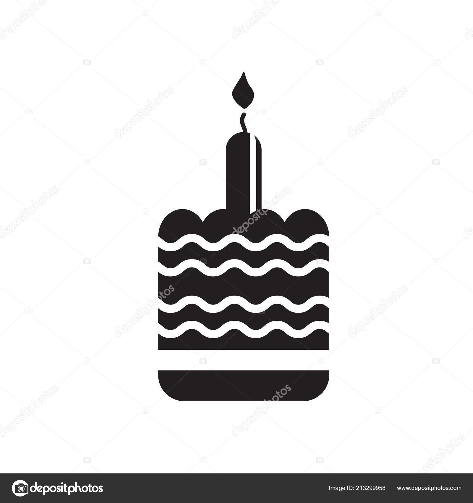 Birthday Cake Icon Vector Isolated White Background Birthday Cake